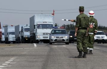 Гуманитарка РФ стоит на КПП, сегодня пересечение границы не ожидается