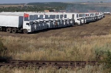 Красный Крест: Российские грузовики с гуманитаркой еще не пересекли границу с Украиной