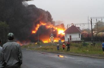 Ліквідовано загоряння цистерн з нафтопродуктами на залізничній станції «Городище»