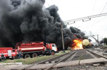 ГосЧС: Причиной аварии поезда в Городище стало повреждение оси цистерны