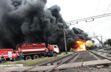 ДержНС: Причиною аварії поїзда в Городищі стало пошкодження осі цистерни