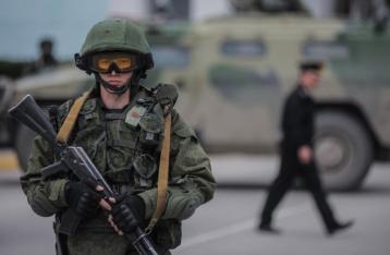 СНБО: 4000 российских военных в Крыму движутся к границе с Херсонской областью