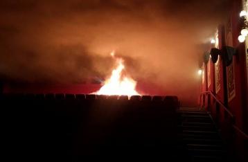 В Киеве произошел пожар в кинотеатре «Жовтень»