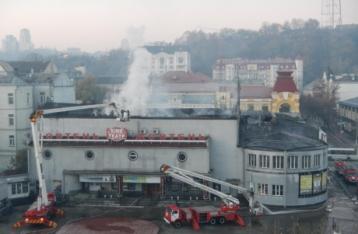 Пожар в кинотеатре «Жовтень» тушили более четырех часов