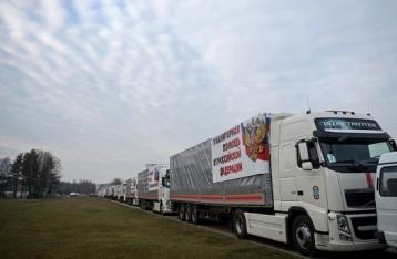 Перші вантажівки «гумконвою» РФ перетнули український кордон
