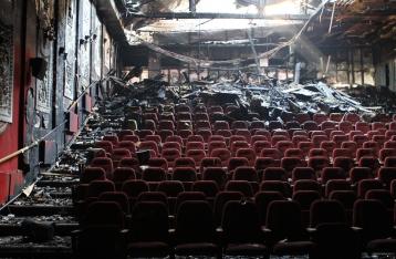 Задержаны подозреваемые в поджоге киевского кинотеатра «Жовтень»