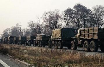 В ОБСЕ снова зафиксировали в Донецке колонну военных грузовиков