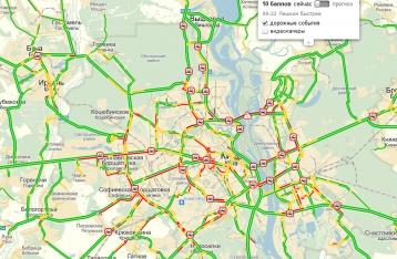 Киев парализован: в городе десятибалльные пробки