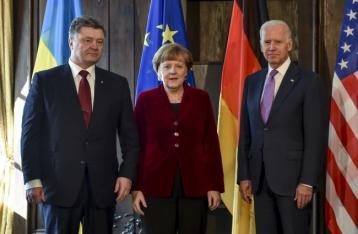 Порошенко, Меркель и Байден согласовали дальнейшие  шаги по мирным переговорам