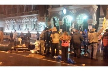 Милиция разогнала акцию протеста под Нацбанком