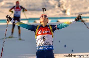 Украинка завоевала золото на ЧМ по биатлону в массовом старте