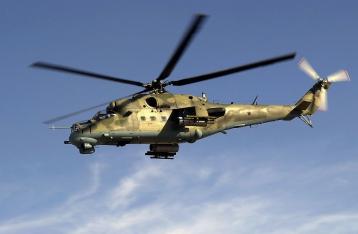 В Киевской области упал военный вертолет