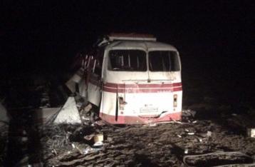 Под Артемовском автобус подорвался на мине: четверо погибших