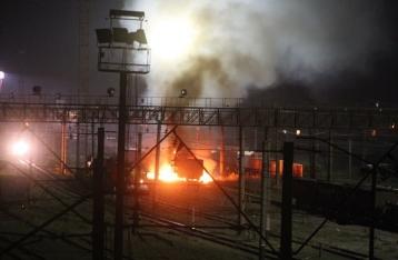На ж/д станции в Харькове взорвали цистерну с топливом для армии