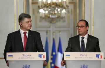 Порошенко и Олланд будут жестко координировать действия по реализации Минских соглашений