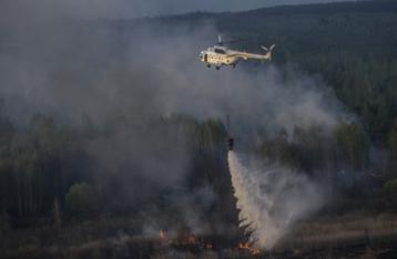 Яценюк: Радиоактивный фон из-за пожара возле ЧАЭС не изменился