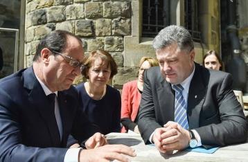 Порошенко и Олланд обсудили дополнительные меры для реализации Минских соглашений