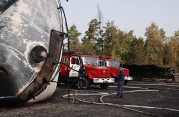 Признаков горения на нефтебазе под Киевом нет