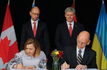 Украина и Канада завершили переговоры по созданию зоны свободной торговли