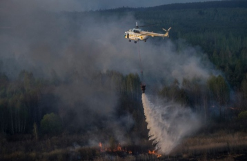 В «Чернобыльской пуще» продолжается пожар на площади 90 гектаров