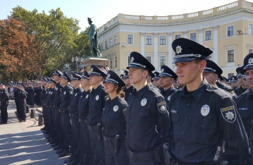 В Одессе приняли присягу около 400 патрульных полицейских