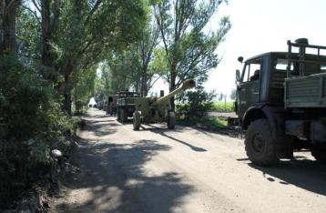 Украинская сторона начала отвод пушек от линии соприкосновения