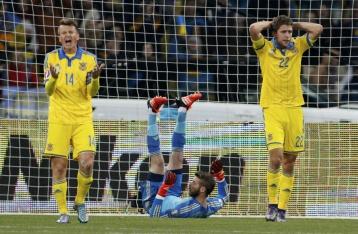 Сборная Украины проиграла команде Испании