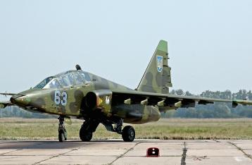 В Запорожской области разбился штурмовик Су-25