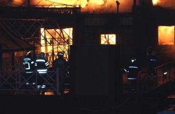 Спасатели потушили ресторан на Днепре