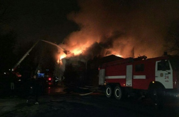На столичном Гидропарке горит ресторан «Млын»