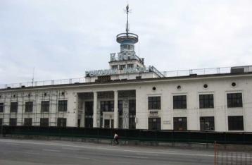 В Киеве горит речной вокзал