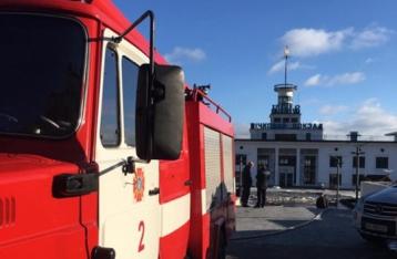 Пожар в здании Речного вокзала потушили