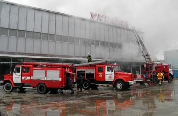 Пожар в ужгородском универмаге потушен