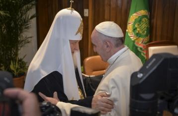 Папа Римский и глава РПЦ Кирилл призвали к миру в Украине
