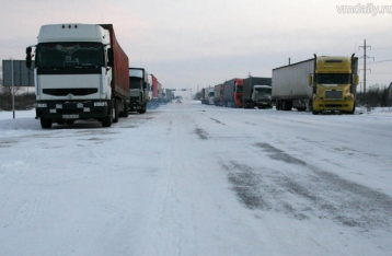 В России начали блокировать фуры из Украины