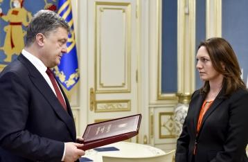 Порошенко вручил вдове Гонгадзе звезду Героя