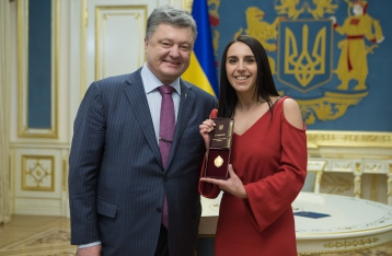 Порошенко присвоил Джамале звание народной артистки