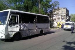 В Мариуполе автобус с бойцами АТО попал в ДТП
