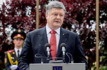 Порошенко: У нас есть все возможности в ближайшее время спеть гимн Украины в Донецке