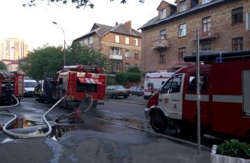 В Киеве горел Соломенский суд