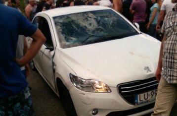 На Львовщине поляк на авто сбил троих участников блокады