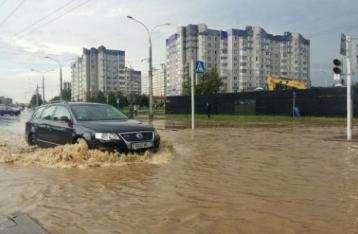 На Минск обрушилась сильная буря