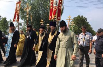 Участники крестного хода отказались ехать в Киев на автобусах