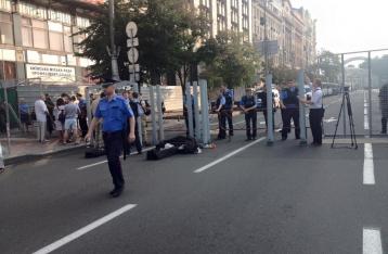 Участники крестного хода собираются в центре Киева