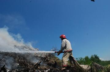 На Грибовичской свалке снова произошел пожар
