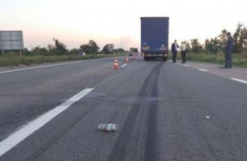 Под Броварами фура сбила группу велосипедистов, один спортсмен погиб