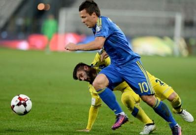 Сборная Украины победила Косово