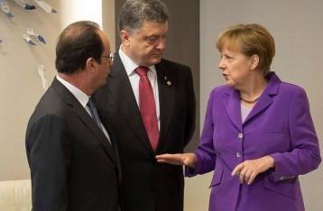 Порошенко, Меркель и Олланд договорились завтра встретиться в «нормандском формате»