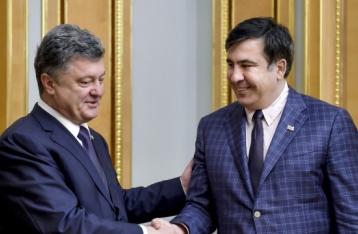 АП: Порошенко готов подписать отставку Саакашвили