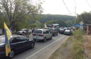 Активисты заблокировали пункт пропуска на границе со Словакией